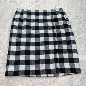 New! Talbots plaid wool skirt plus sz 16W black